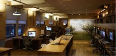 Look at that tree! This is an awesome office. #cubicles