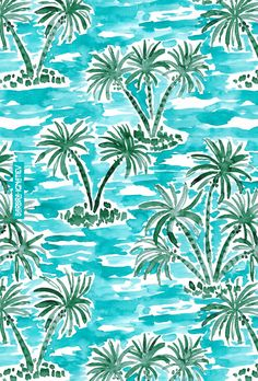 PALM WONDERLAND Tropical Hawaiian Watercolor Fabric I am definitely a Gemini ambivert. Being around others charges me up, animates me and teaches me wonderful new things. BUT I often get really grouchy and quiet when I've been Tropical Fabric, Tropical Pattern, Tropical Prints, Hawaiian Pattern, Summer Backgrounds, Cute Backgrounds, Watercolor Fabric, Vintage Hawaiian, Hawaiian Print