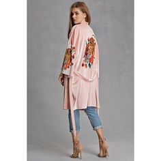 Forever21 Jaded London Tiger Kimono (4,810 PHP) ❤ liked on Polyvore featuring intimates, robes, blush, full length kimono robe, kimono robe, full length robe, forever 21 and forever 21 robe