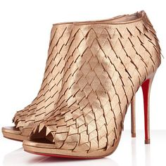 Christian Louboutin Diplonana 120mm Leather Booties Mekong Red Sole Shoes