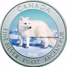 Item specifics     Year:   2014   Material:   Silver     Geographic Origin:   Canada   Composition:   Silver      2014 Canada Arctic Fox Commemorative 1.5 Ounce Pure Silver Coin...