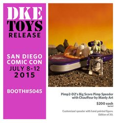 DKE's Comic-Con exclusives have proved so popular that for the second year in a row, we've opted to give the distributor of urban designer vinyl toys and collectibles its own master post, wi… San Diego Comic Con, Vinyl Toys, Movie Posters, Big, Film Poster, Billboard, Film Posters