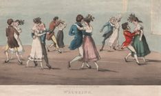 Waltzing, 1825. Lewis Walpole Library, Yale University.