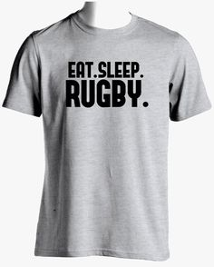 Rugby  Shirt-Eat Sleep Rugby T Shirt Rugby by SuperCoolTShirts