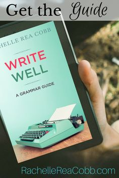 Get the guide and become a better writer! Get your copy of Write Well here: https://rachellereacobb.com/write-well/