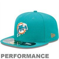 Miami Dolphins Historic logo New Era On-Field Player Sideline 59FIFTY Fitted  Hat - Aqua 2e06426016dc