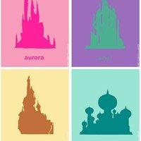 Disney Princess Castle Silhouettes