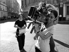 Ritratto di Shirin Neshat durante le riprese