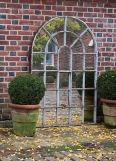Reclaimed Orangery architectural window mirrors, precious patina on these heritage pieces