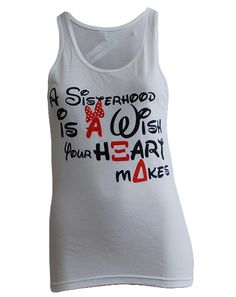 Alpha Xi Delta Disney Sisterhood Tank by Adam Block Design | Custom Greek Apparel & Sorority Clothes | www.adamblockdesign.com