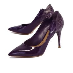 Chloe Purple Patent Leather Pointed Toe Pumps