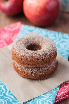 Baked Apple Cider Donuts (12/16- Very easy, super delicious, used organic sugar, we ate them all!)