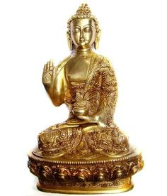 Buddha Sculpture Idols Handcrafted Brass Statue By The Brass Shop God Idols & Statues on Shimply.com
