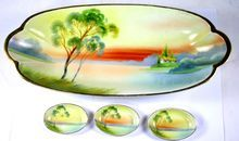 Vintage Hand Painted Nippon Vegetable Dish with Small Pats from Juliet Jones Vintage on Ruby Lane