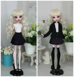 Dark blue school uniform consists of t-shirt, pleated skirt and knitted cardigan You can choose - skirt only, just top & skirt or outfit ( top + skirt + cardigan) The outfit can be complemented by white knee socks or black stockings, which you can find here https://www.etsy.com/ru/listing/269303134/stockings-for-monster-higheverafter-high?ref=shop_home_active_28 Doll on photo - OOAK Drakuloura (standart body MH) Clothes only! Note! The color can vary depending on your monitor settings ...