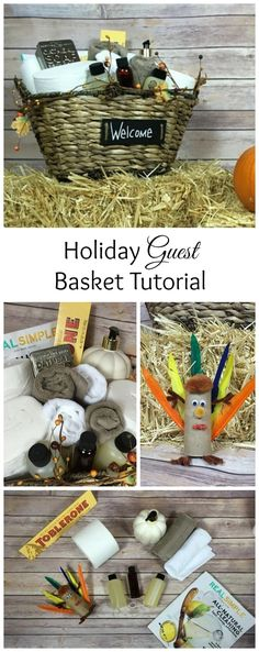Holiday Guest basket tutorial