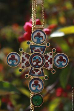 Византийский Крест - Горячая эмаль,перегородчатая эмаль,ювелирная эмаль