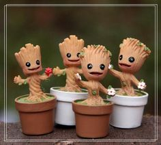 Guardians Of The Galaxy Mini baby Groot marvel Action Toy Figures Cartoon Movies Baby Groot Action Figure, Groot Toy, Marvel Cartoons, Potted Trees, Miniature Figurines, Fairy Garden Accessories, 3d Prints, Cartoon Movies, Cartoon Toys