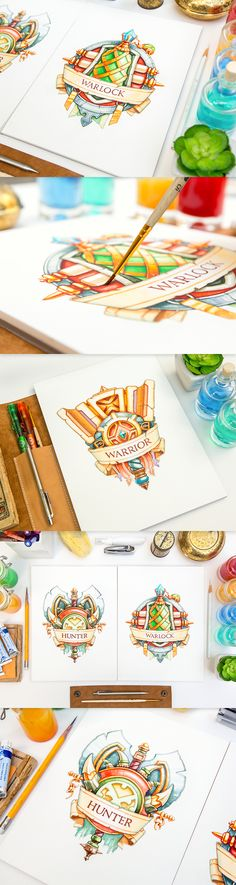 Mike | Creative Mints : Watercolor logo emblems. Just wonderful.
