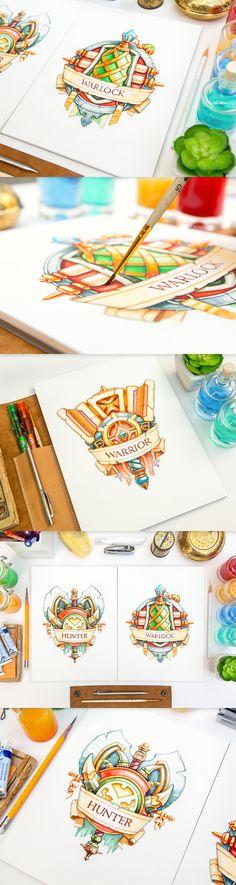 Mike | Creative Mints : Watercolor logo emblems. Just wonderful.