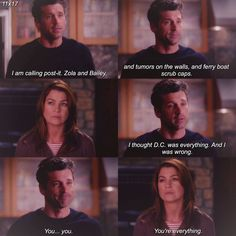 I am very sad because this moment. You are every thing more than sad Greys Anatomy Episodes, Greys Anatomy Characters, Greys Anatomy Memes, Grey Anatomy Quotes, Grays Anatomy, Meredith Grey Quotes, Meredith And Derek, Grey's Anatomy Doctors, Youre My Person