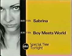 Tgif on ABC. Sabrina the Teenage Witch and Boy Meets World  #90s #memories