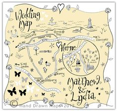 Hand Drawn Maps   Bespoke wedding and event maps