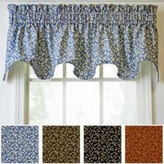 @Overstock - Complete any room in your home with this luxuriously lined, self-corded valance. This stylish valance features a classic scroll design. http://www.overstock.com/Home-Garden/Ellis-Tremblay-Scallop-Valance/5524334/product.html?CID=214117 $26.03