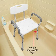 PADDED BATH SEAT WITH ARMS AND BACK | Better Senior Living