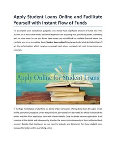Apply student loans online  Get online student loans in the uk without any credit checks. Click here for more: http://goo.gl/ySmyof