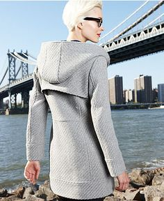 Jessica Simpson Coat, Hooded Toggle Wool-Blend - Womens Coats - Macy's
