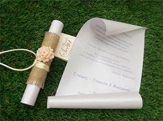 προσκλητήρια γάμου με λινάτσα,χειροποίητα προσκλητήρια γάμου ,μπομπονιερες γαμου, μπομπονιερες βαπτισης, Χειροποίητες μπομπονιέρες γάμου, Χειροποίητες μπομπονιέρες βάπτισης Baptism Decorations, Wedding Decorations, Weeding, Projects To Try, Place Card Holders, Invitations, Bridal, Flowers, Baby