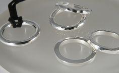 Hunk and Vortex big silver pendants