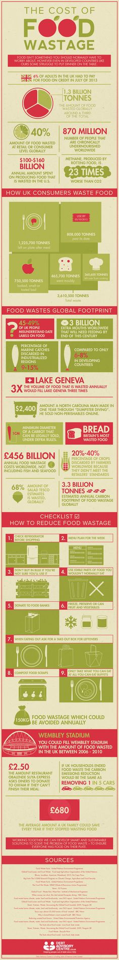 The Cost of Food Wastage Infographic...the holidays are the perfect time to look at this...