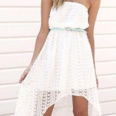 Beautiful Crochet White Sabo Skirt Dress