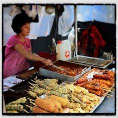 Lemon-Ginger Mousse and Pistachio Tuiles, Recipe from Martha Stewart Living, April 2007 Korean Street Food, Korean Food, Traditional Market, Mini Kitchen, World Recipes, South Korea, Seoul, Carne, Around The Worlds