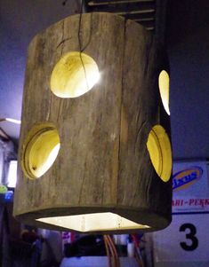1 LED Lamp from dead wood/Finland (with 8 round holes & 1 square below) Wooden Lamp, Led Lamp, Finland, Lighting, Home Decor, Decoration Home, Room Decor, Lights, Home Interior Design