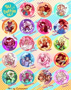 SU buttons by Catcoconut