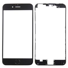 [$5.24] iPartsBuy Front Screen Outer Glass Lens + Front Housing LCD Frame + Home Button for iPhone 6S Plus(Black)