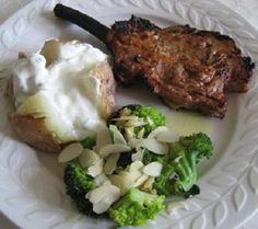 Save Print servings preparation time for marinade hours cooking time 20 minutes Author: Chef Martino Recipe type: m Serves: Ingredients veal Veal Chop, Veal Recipes, Fresh Broccoli, Garlic Butter, Serving Platters, Cooking Time, Barbecue, Mashed Potatoes, Stuffed Peppers