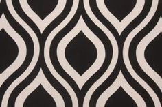 Premier Prints Emily Drapery Fabric in Black / Natural $7.48 per yard - Fabric Guru.com