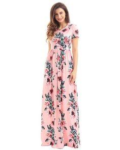 CHICUU - CHICUU Vintage Bohemian Floral Flower Print Pocket Design Women's Maxi Dress - AdoreWe.com