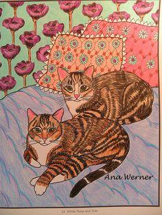 Mimi Vang Olsen Cats Coloring Book #mimivangolsen #CatsColoringBook #cat