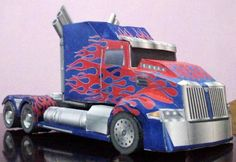 Transformers - Age Of Destruction Truck Paper Model - by Wongday  - == -  From Transformers movies series, here is the Age Of Destruction Truck paper model, created by Indonesian designer Dayat Wong, from Wongday Papercraft website.