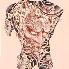 Anime Tattoos, Tribal Tattoos, Girl Tattoos, Japanese Tattoo Art, Japanese Sleeve Tattoos, Chest And Back Tattoo, Dragon Tattoo Full Back, Mens Face Tattoos, Japan Tattoo Design