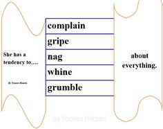 to have a tendency to complain, gripe, nag, whine, grumble about everything.