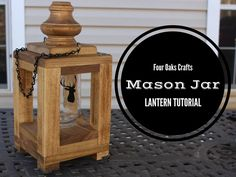 Learn step-by-step how to make a mason jar lantern. This will make an awesome home decor piece for your porch or kitchen.