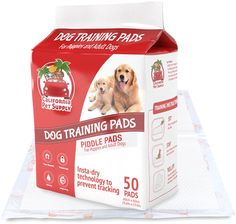Dog Training Pads- Maximum-Absorption Puppy Pads w/Insta-Dry Technology offer Low Price, and No Tracking. Save Money and Frustration with Leak-Resistant Pads from California Pet Supply - 23.6' x 23.6' >>> Check this awesome image  : Dog Litter and Housebreaking