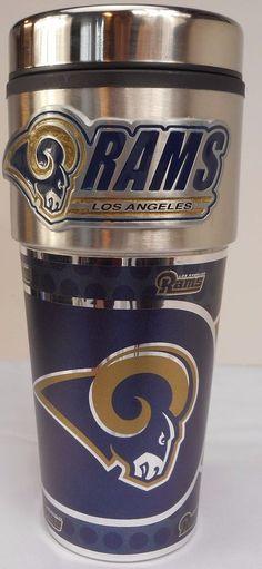 Los Angeles LA RAMS 16oz Stainless Steel Travel Mug GREAT GIFT IDEA NFL  Licensed  GreatAmericanProducts  LosAngelesRams 5ebb315a6ece