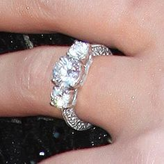 Perrie Edwards Diamond Engagement Ring